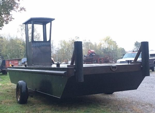 Commercial 23'6 x 8'  Barge w/Wheelhouse