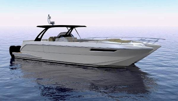 Mares 47 Catamaran Center Console Profile