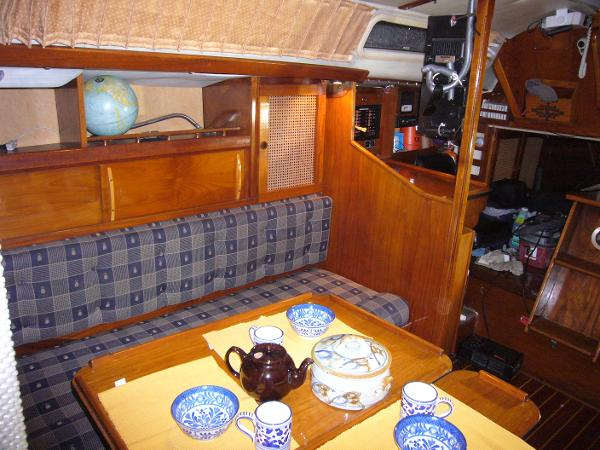 Salon starboard looking aft