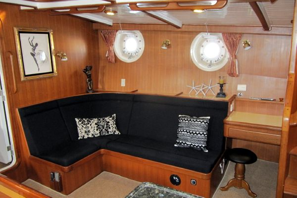 Salon Settee starboard side