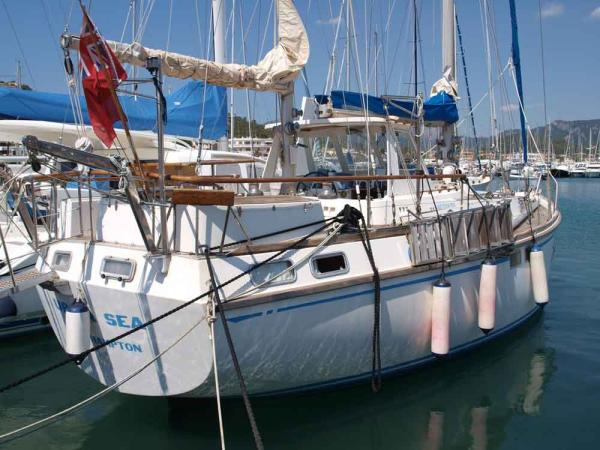 Nautor 50, moored