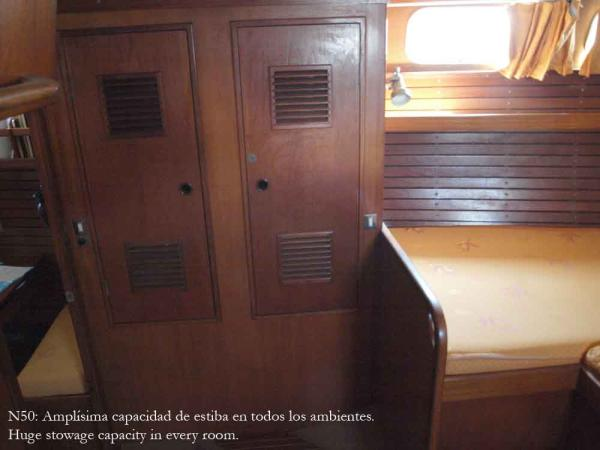 Nautor 50, owner's cabin lockers