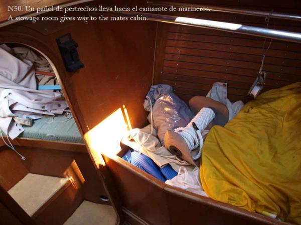 Nautor 50, stowage room