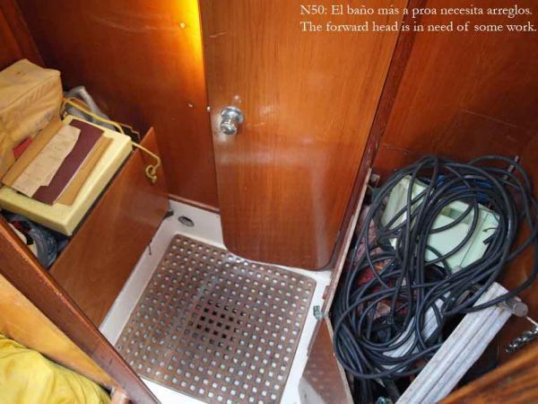 Nautor 50, storage room