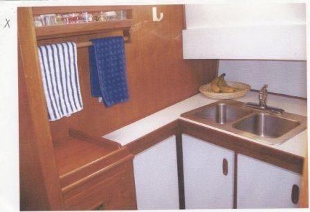 Galley sink.
