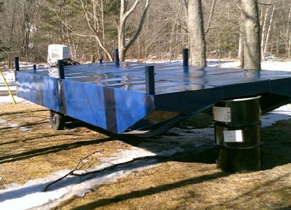 20' x 8.5' x 2' Steel Pontoon Barge To be built