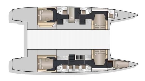 Nautitech 541 5 Cabin Layout Plan