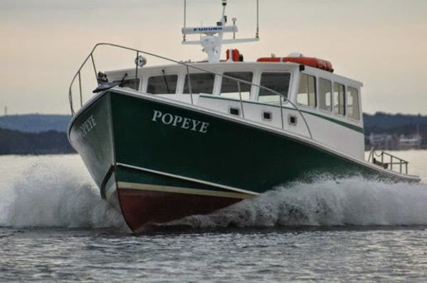 H&H Downeast Lobster Yacht, Willis Beal Design - Research Patrol Picnic Cruiser Underway