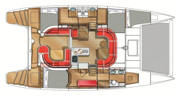 Nautitech 442 3 Cabin Layout Plan