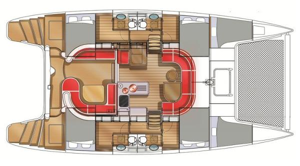Nautitech 442 4 Cabin Layout Plan