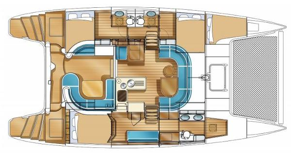 Nautitech 441 3 Cabin Layout Plan
