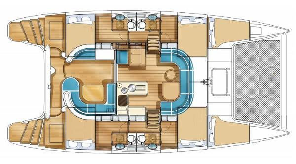Nautitech 441 4 Cabin Layout Plan