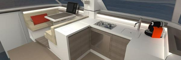 Nautitech Open 40 Galley
