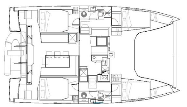 Nautitech Open 40 4 Cabin Layout Plan