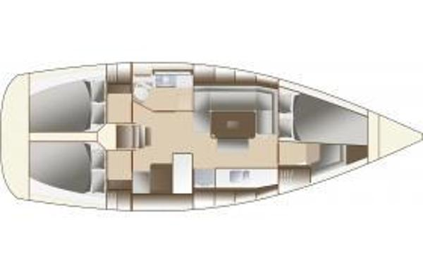 Dufour 380 GL - 3 cabin layout