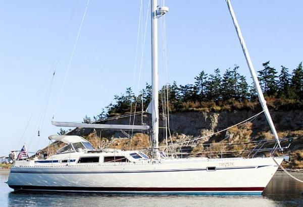 Sceptre 41 Pilothouse Sloop At Anchor