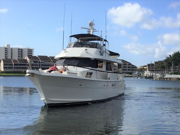 Hatteras 67 Cockpit Motor Yacht Bow Profile