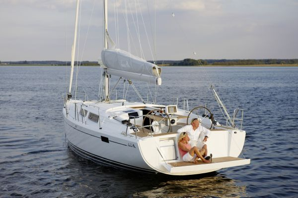 Hanse 385 Manufacturer Provided Image: Hanse 385 Exterior Moored