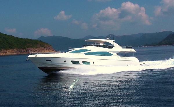 Grand Harbour Ruby Motor Yacht Running
