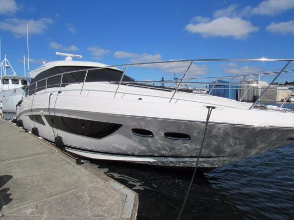 This 47 foot 2015 Sea Ray 470 Sundancer Sport Yacht is equipped with 2, 960hpInboard Zeus 6.7 engines. The precision, innovation, and craftsmanship show through is the build of this beautiful Sundancer. Please call for the sale price of this Sundancer Sport Yacht.