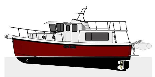 American Tug 365 Hull #16 New: Extended upper deck & cockpit cover