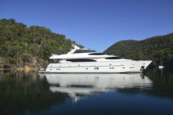 Horizon Motoryacht with Raised Pilothouse and Skylounge Profile
