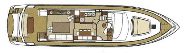 Riva 75 Venere main deck layout