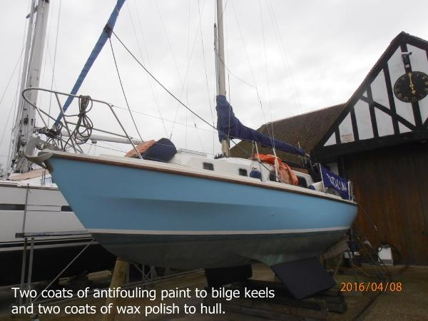 Westerly Centaur Out of the water April 2016