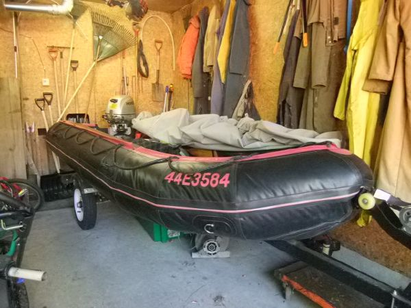 13' Avon Typhoon S400 Inflatable Boat 15hp Honda