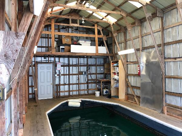 Custom Canoe Cove Boathouse Mezzanine
