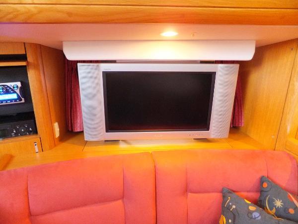 Flat screen TV in saloon