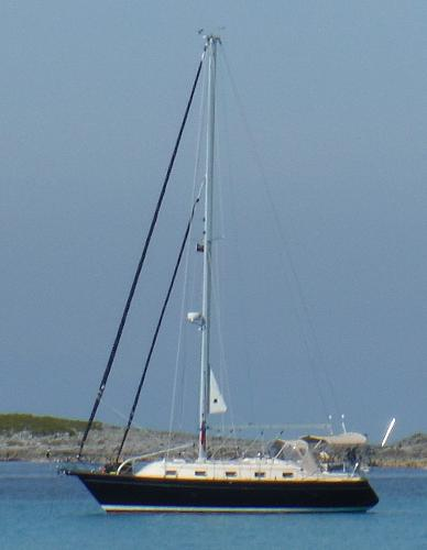 Island Packet 370 At Anchor