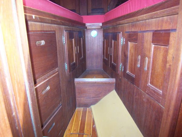 Storage underneath Forward Berth