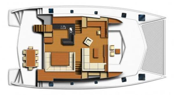 Leopard 58 Main Deck Layout Plan