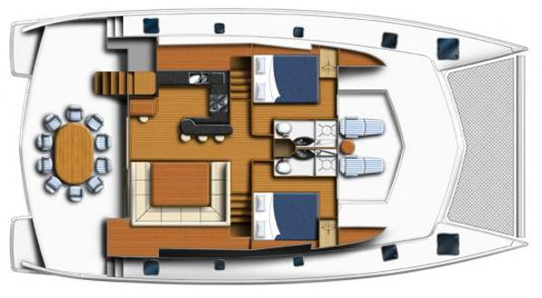 Leopard 58 Main Deck Option Layout Plan