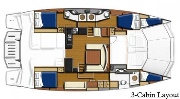 Leopard 51 PC 3 Cabin Layout Plan