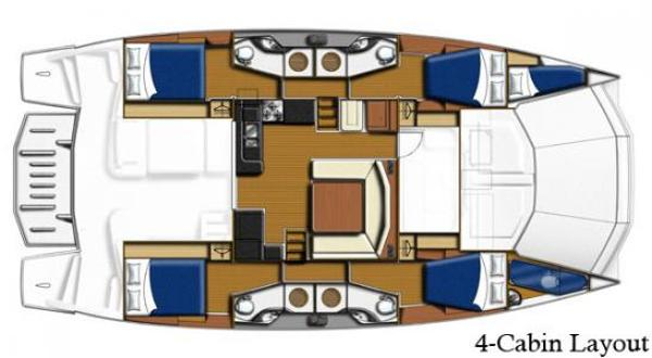 Leopard 51 PC 4 Cabin Layout Plan
