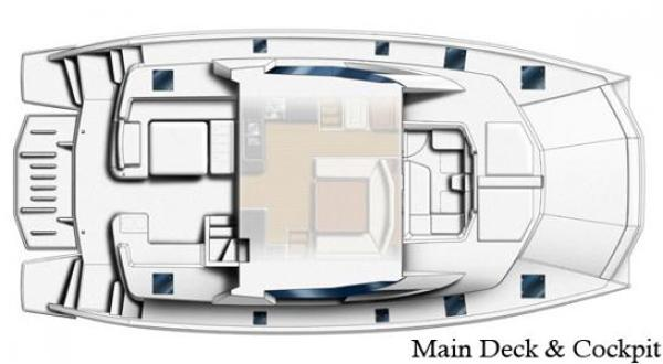 Leopard 51 PC Main Deck Layout Plan
