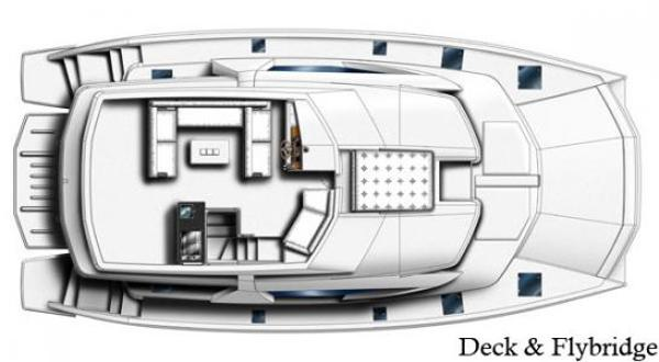 Leopard 51 PC Flybridge Layout Plan