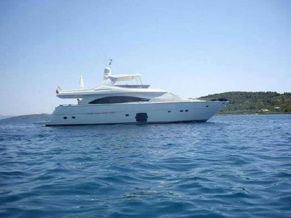 Ferretti Yachts 830 At Anchor