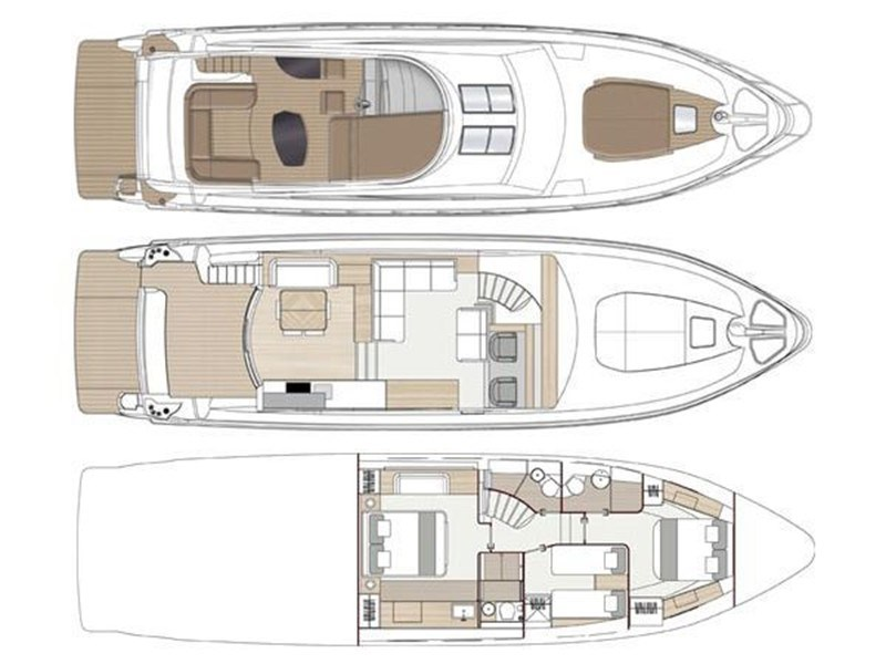 Sealine T60 Sealine T60 Layout