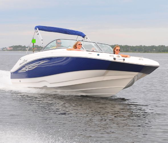 2015 Nautic Star 223 DC Deck Boat Front Hull View