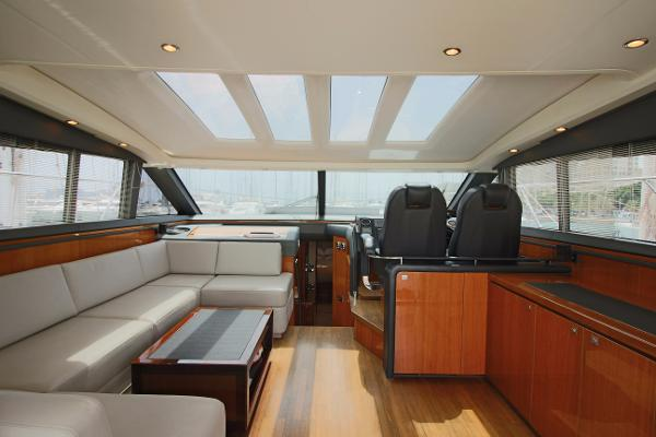 Princess V62 Main Deck Saloon (Roof Closed)