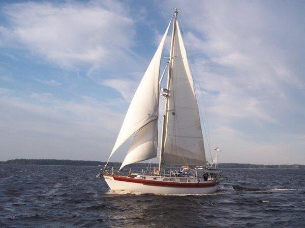 Slocum 43 Cutter Under Sail