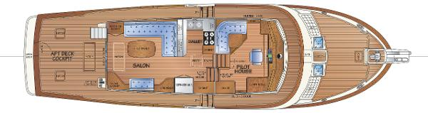 Main Deck - Salon Option w/Stbd Settee / Pilothouse