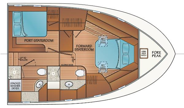 2 Stateroom 2 Head Layout