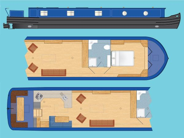 """Wide Beam Narrowboat Tingdene Colecraft 65 x 12'06"""""""
