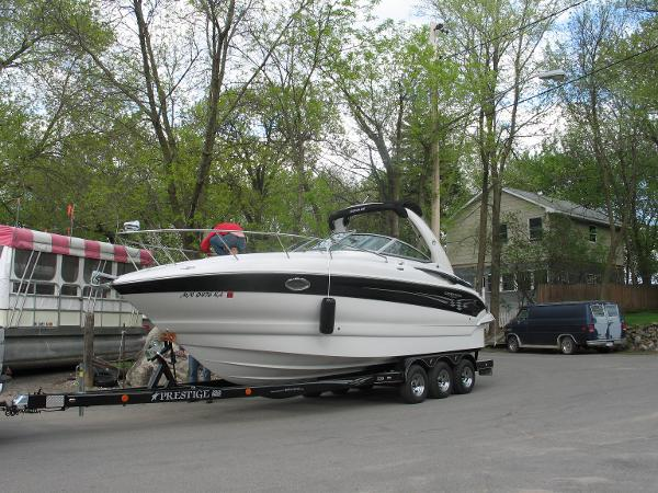 Crownline 270 CR On the trailer