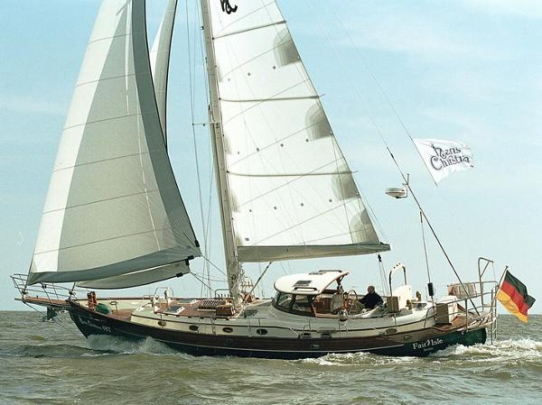 Hans Christian Yachts 48 Traditional Cutter/Ketch 48T on broad reach