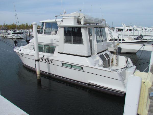 Carver 500 Cockpit Motor Yacht Port Side Aft Profile